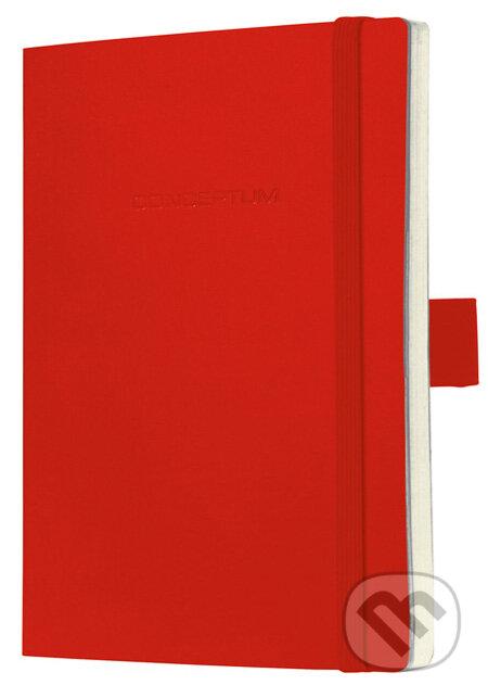 Notebook CONCEPTUM softcover červený 9,3 x 14 cm linajkový -
