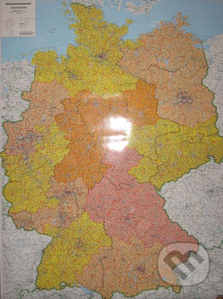 Nástenná mapa Nemecka s PSČ, 1:700 000 -