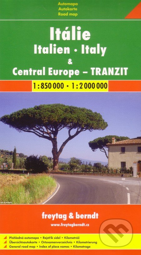 Itálie, Central Europe - tranzit 1:850 000 1:2 000 000 -