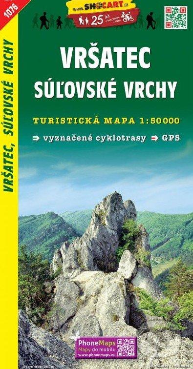 Vršatec, Súľovské vrchy 1:50 000 -