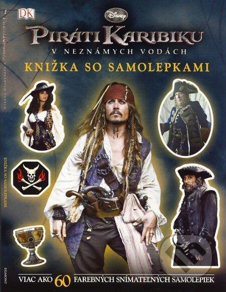Piráti Karibiku: V neznámych vodách (Knižka so samolepkami) -