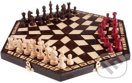 Šachy drevené large pre 3 hráčov -