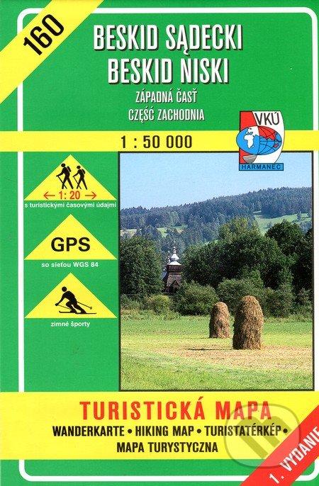Beskid Sadecki, Beskid Niski 1:50 000 - turistická mapa č.160 -