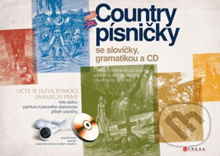 Country písničky se slovíčky, gramatikou a CD -