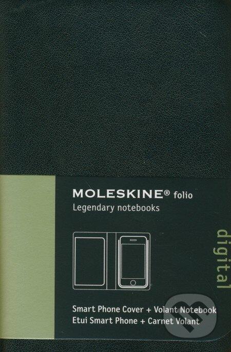 Moleskine - Smart Phone sada + Volant čierny čistý zápisník v mäkkej väzbe -