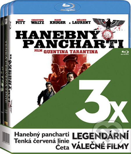 3x Legendární válečné filmy - 3 Blu-ray BLU-RAY