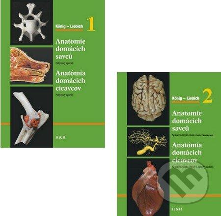 Anatómia domácich cicavcov / Anatomie domácích savců (Komplet 1 + 2) -