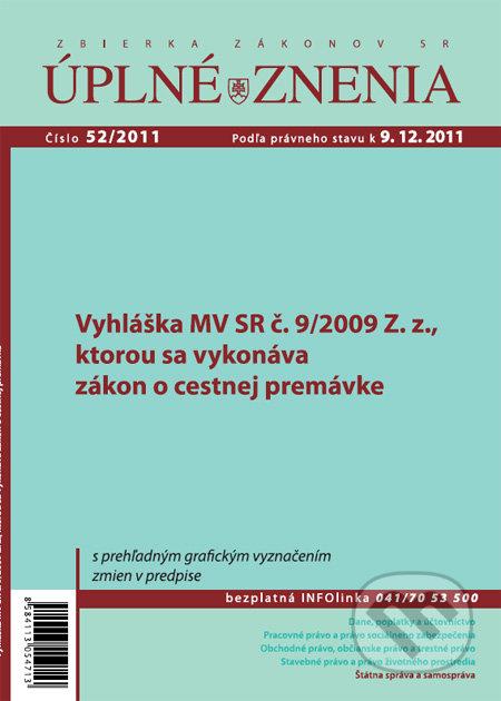 Úplné znenia 52/2011 -
