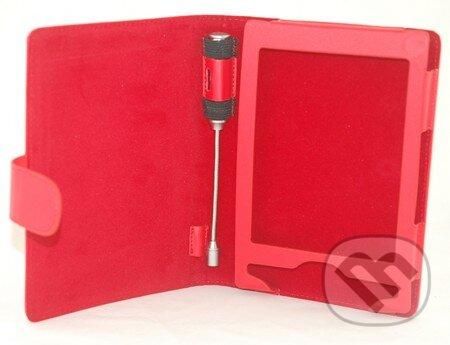 Puzdro na SONY PRS-T1 s LED lampičkou (červené) -
