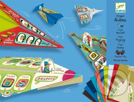 Origami modelovacia sada papierových lietadiel -