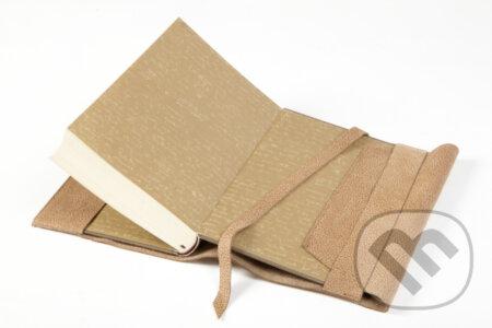 Variabilný obal na knihu z pravej kože (Sahara hnedá) -