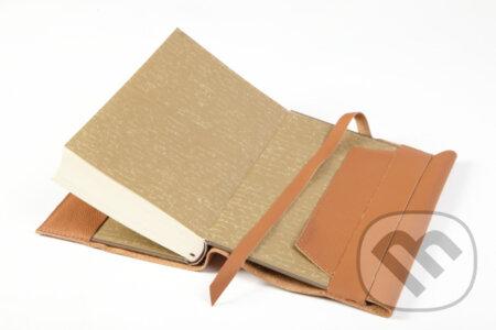 Variabilný obal na knihu z pravej kože -