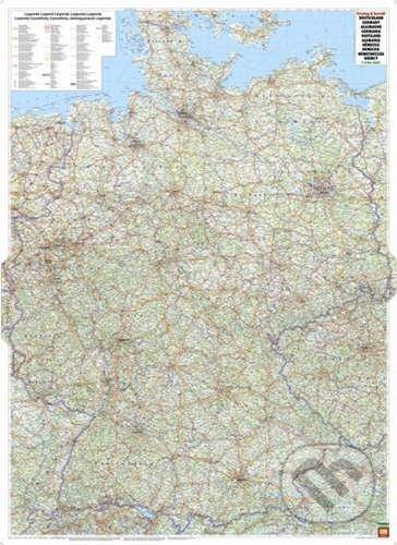 Nemecko - nástenná mapa 1:700 000 -