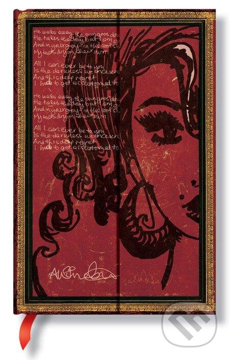 Paperblanks - Amy Winehouse, Tears Dry (Mini, linajkový) -