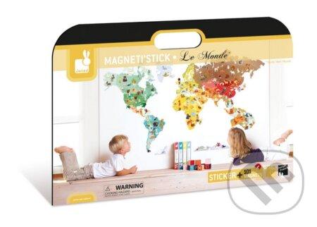 Magnetická dekorácia – Mapa sveta -