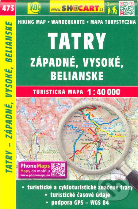 Tatry - Západné, Vysoké, Belianske 1:40 000 -