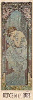 Odpočinok noci - Alfons Mucha