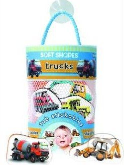 Soft Shapes Tub Stickables: Trucks -