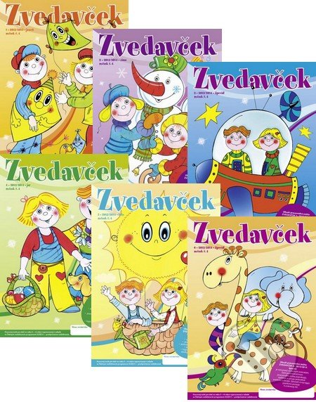 Zvedavček 2013/2014 (kolekcia 6 zošitov) - Jana Paleschová, Miroslava Takáčová