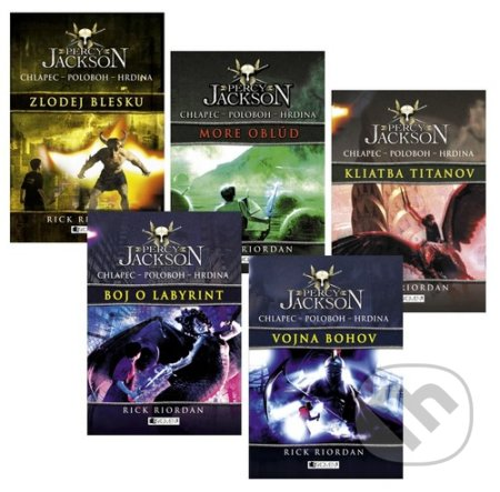 Séria Percy Jackson (komplet) - Rick Riordan