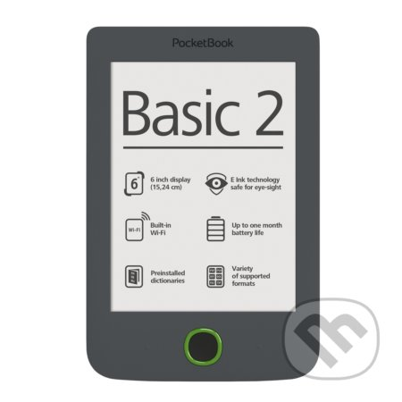 "PocketBook 614 Basic 2, 6"" E-ink -"