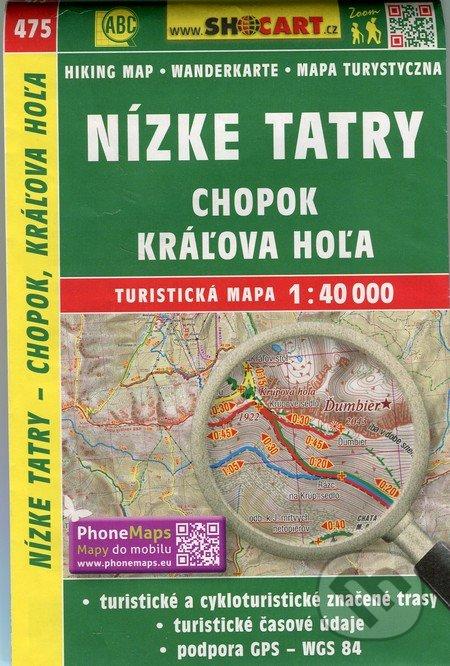 Nízke Tatry, Chopok, Kráľova Hoľa 1:40 000 - turistická mapa č. 475 -