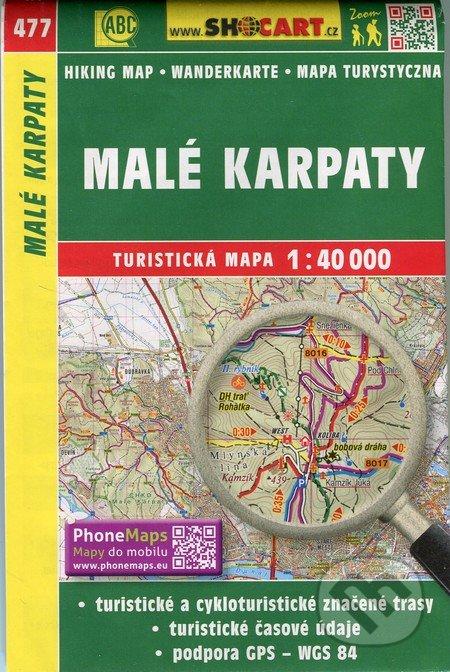 Malé Karpaty 1:40 000 - turistická mapa č. 477 - Kolektív autorov