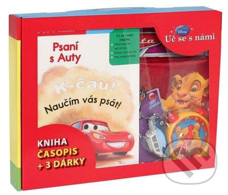 Kufřík - Psaní s Auty (kniha, časopis + 3 dárky) - Walt Disney