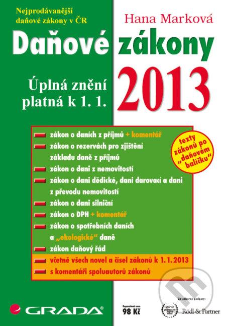 Daňové zákony 2013 - Hana Marková
