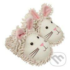 Veselé papuče Biele zajačiky -