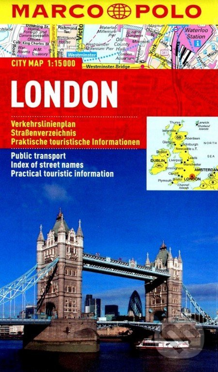 London - laminovaná mapa -