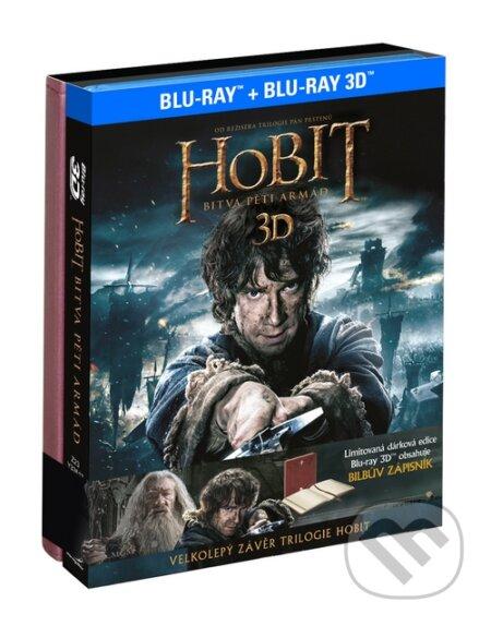 Hobit: Bitva pěti armád 3D Dárková edice Bilbův zápisník BLU-RAY3D
