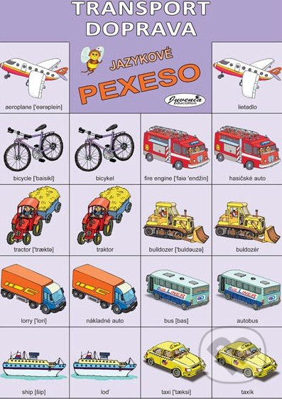 Jazykové pexeso: Transport / Doprava -