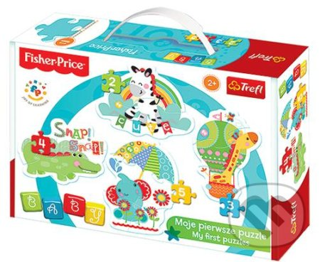 Fisher Price: Rainbow Forest Zebra, žirafa, slon, krokodýl -