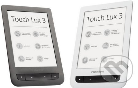 "PocketBook 626 Touch Lux 3, 6"" E-ink s nasvietením -"