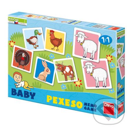 Baby pexeso: Domácí zvířátka -