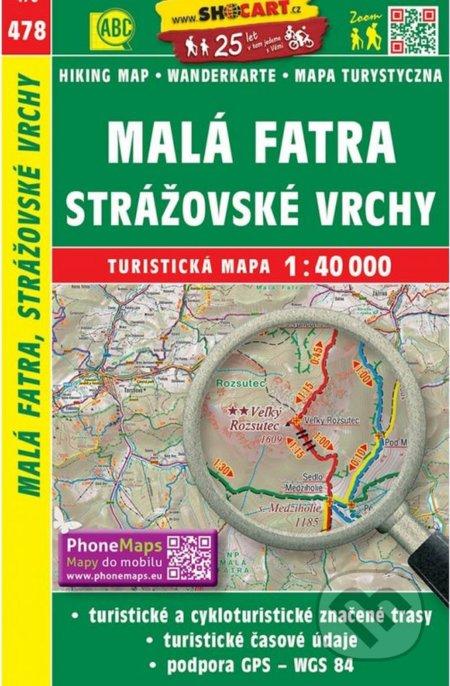 Malá Fatra, Strážovské vrchy 1:40 000 -
