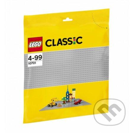 LEGO Classic 10701 Sivá podložka na stavanie -