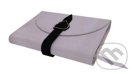Variabilný obal na knihu z pravej kože so sponou (Ružová) -
