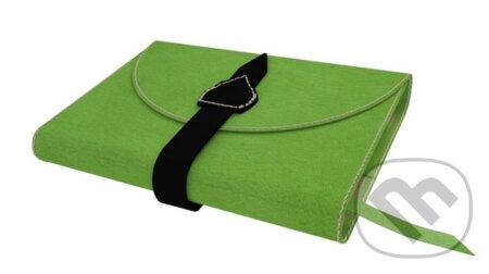 Variabilný obal na knihu z pravej kože so sponou (Zelená) -