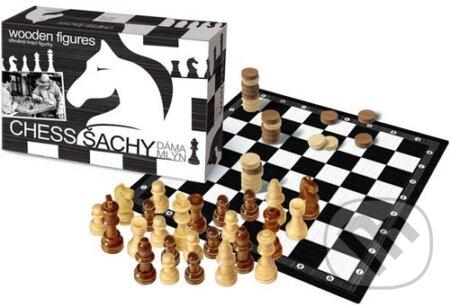 Šachy, Dáma, Mlyn hra -