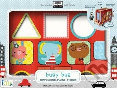 Shape Sorter Puzzle Stacker Busy Bus -