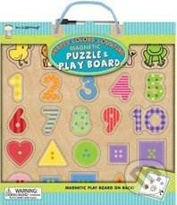 Magnetic Puzzle and Play Boards: Shapes Colors Counting -