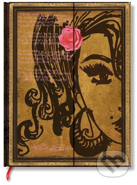 Paperblanks - Amy Winehouse, Tears Dry (limitovaná edicia) -