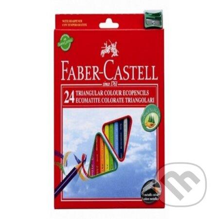 Pastelky ECO Triangular Faber Castell (24 farieb + strúhadlo) -