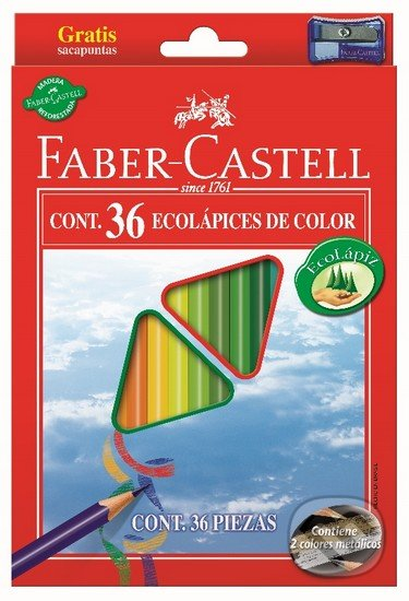 Pastelky ECO Triangular Faber Castell (36 farieb + strúhadlo) -