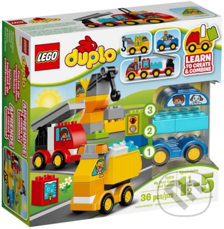 LEGO DUPLO Toddler 10816 Moje prvé autíčka a nákladné autá -