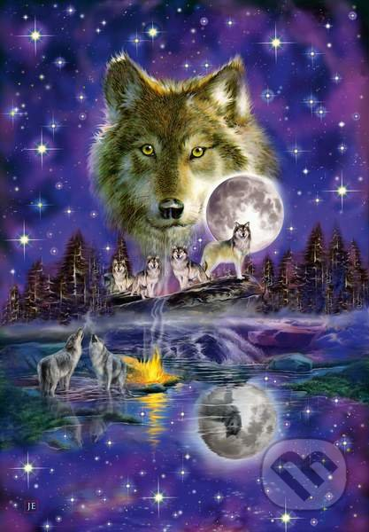 Wolf in the moonlight -