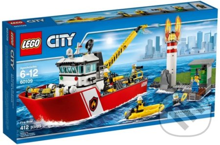 LEGO City Fire 60109 Hasičský čln -