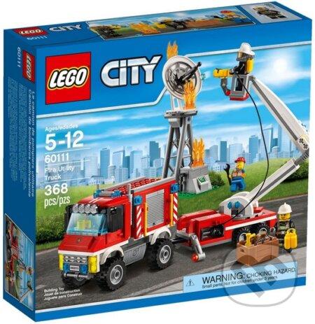 LEGO City Fire 60111 Hasičské auto s pomôckami -